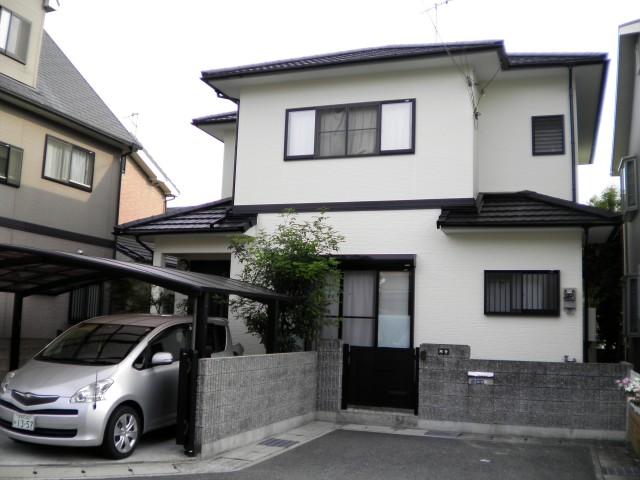 モノトーン系の塗装後の姫路市A様邸