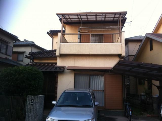 塗装前の加古川市M様邸