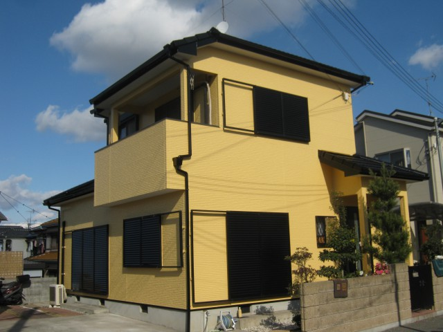 塗装後の加古川市T様邸