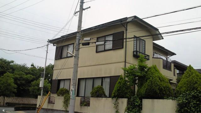 塗装前の神戸市Y様邸