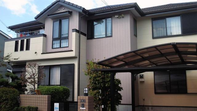 モダンな外観の塗装後の神戸市K様邸