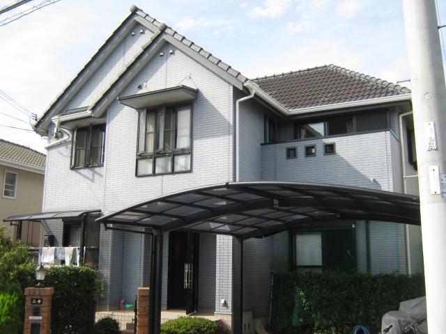 塗装前の兵庫県神戸市N様邸