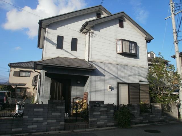 塗装前の兵庫県加古川市A様邸
