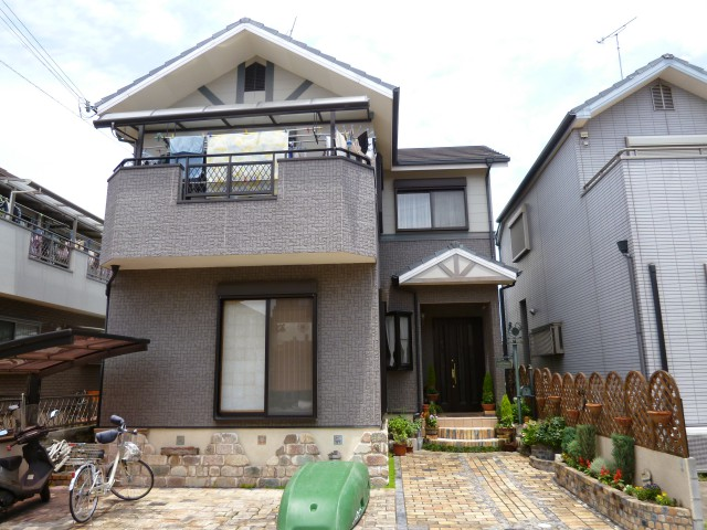 塗装前の神戸市T様邸