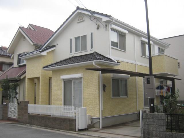 クリーム色がお洒落な塗装後の兵庫県加古川市N様邸