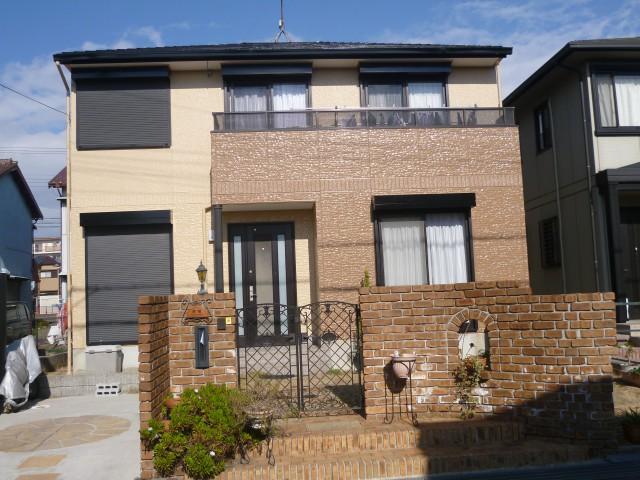 お洒落な外観色になった塗装後の兵庫県神戸市T様邸