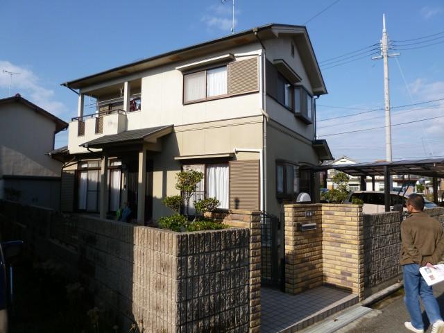塗装前の兵庫県姫路市S様邸