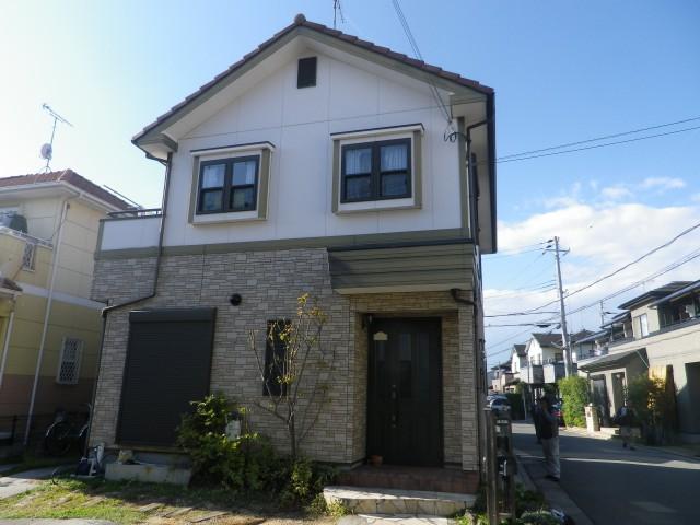 塗装前の兵庫県加古川市O様邸