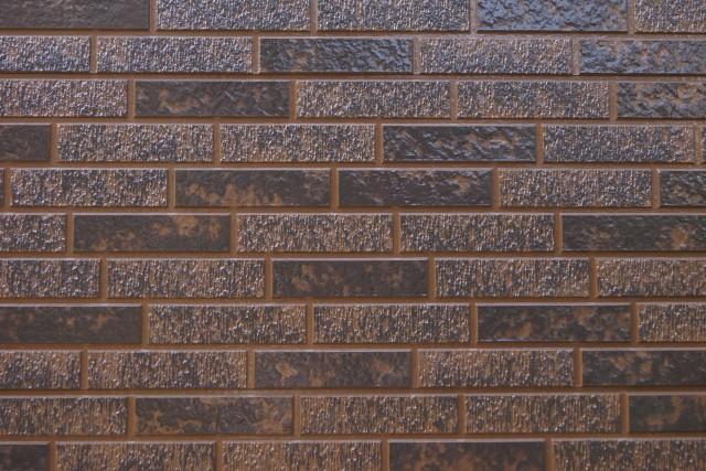 塗装で再現したタイル模様のアップ
