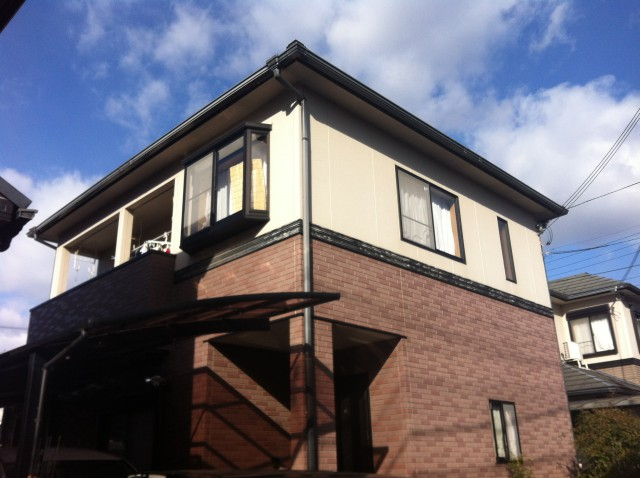 塗装前の兵庫県姫路市W様邸