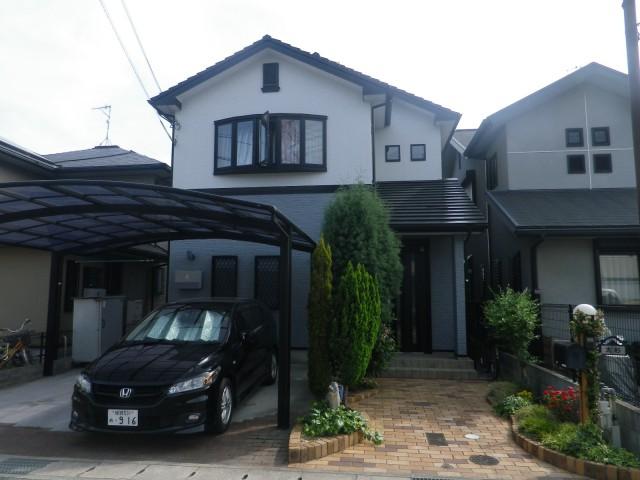シンクなカラーの塗装後の兵庫県姫路市O様邸