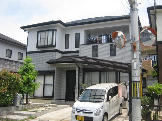 塗装後の兵庫県姫路市F様邸
