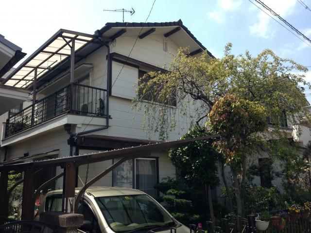 塗装前の兵庫県高砂市K様邸