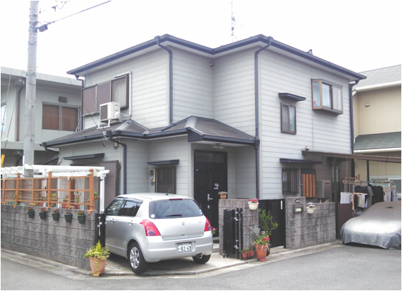 塗装前の兵庫県神戸市M様邸