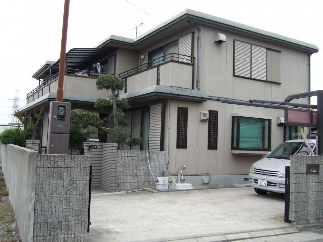 塗装前の兵庫県高砂市Y様邸