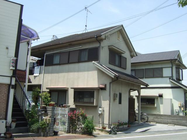 塗装前の兵庫県加古川市K様邸