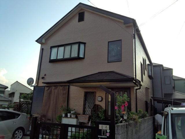 重厚感のある塗装後の兵庫県明石市A様邸