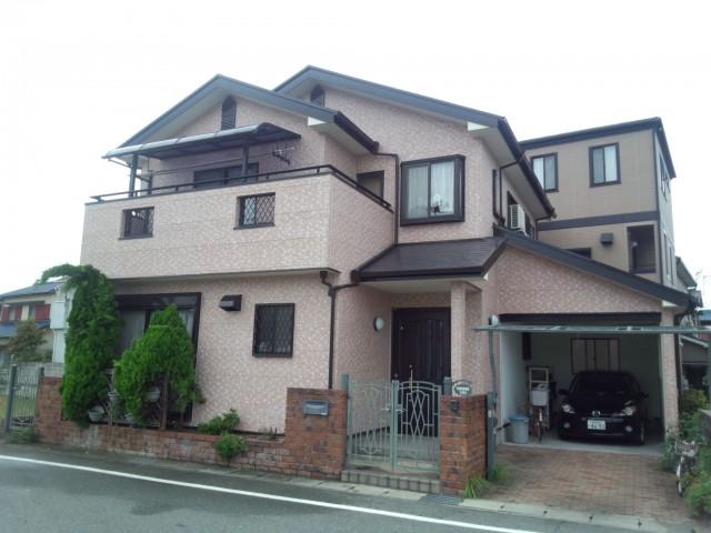 バランスの取れた外観色の塗装後の兵庫県姫路市O様邸