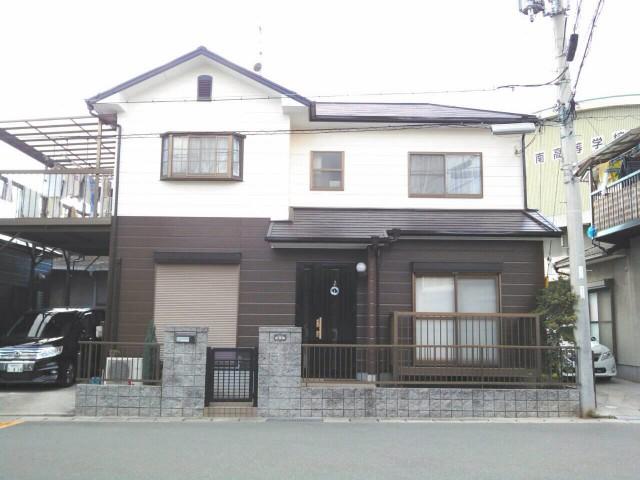 ツートンカラーの塗装後の兵庫県加古郡K様邸