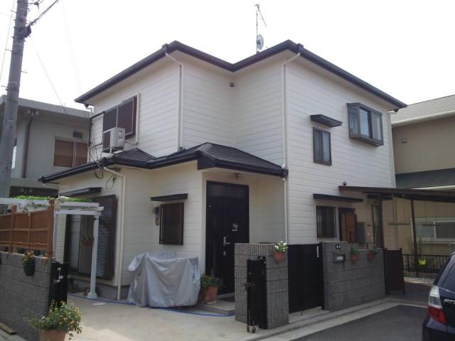明るくなった塗装後の兵庫県神戸市M様邸