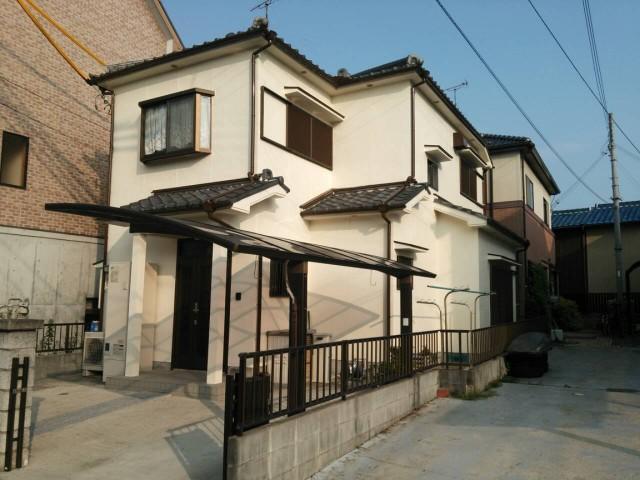 ツートンカラーになった塗装後の兵庫県姫路市T様邸