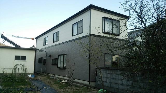 ハッキリとしたツートンカラー施工後の兵庫県神崎郡M様邸
