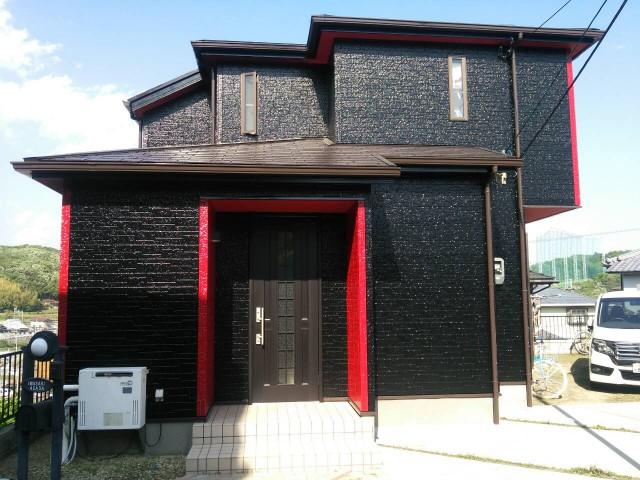 個性的なカラーに-塗装後の兵庫県神戸市I様邸