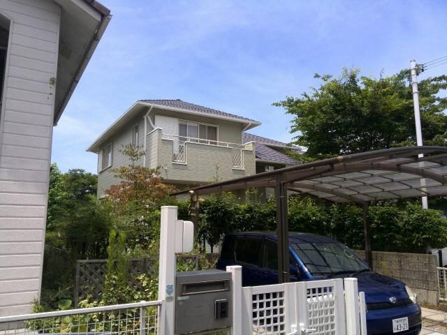 外壁塗装後の神戸市西区のK様邸