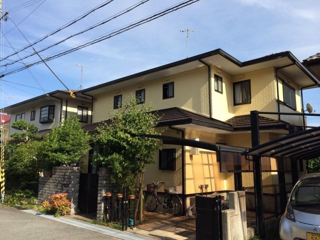 クリーム色のツートンカラー神戸市垂水区のK様邸