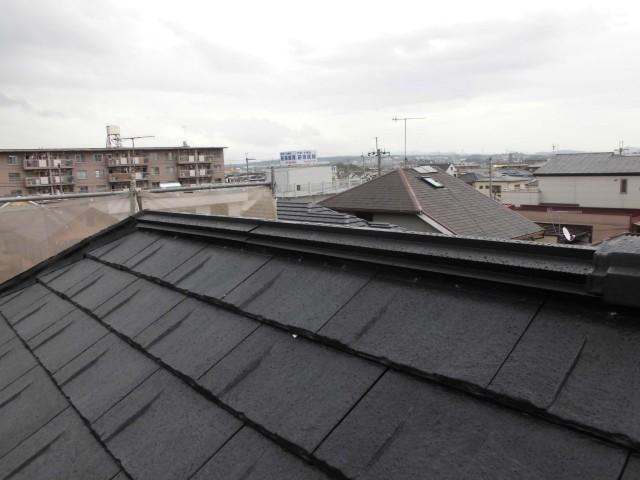 屋根の葺き替え後の神戸市西区のT様邸