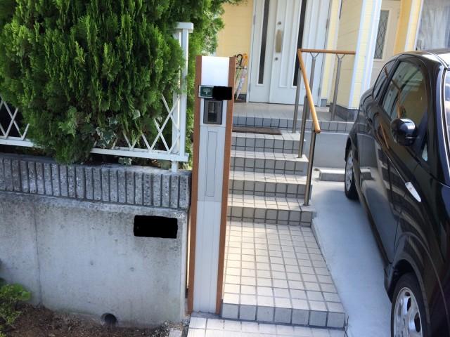神戸市北区のT様邸の機能門柱