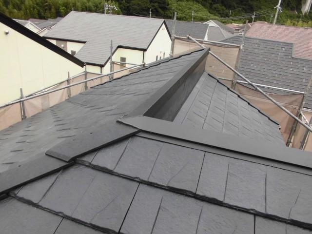 屋根の葺き替え作業完了