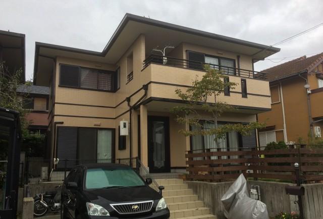 ベランダのラインが特徴的な神戸市垂水区のO様邸