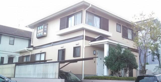 ベージュと茶系のツートンカラー神戸市西区のN様邸