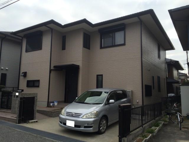 ブラウンのツートンカラーの神戸市西区のA様邸
