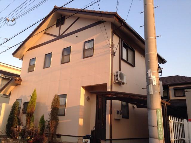 お洒落なピンク色の外観の神戸市西区のT様邸