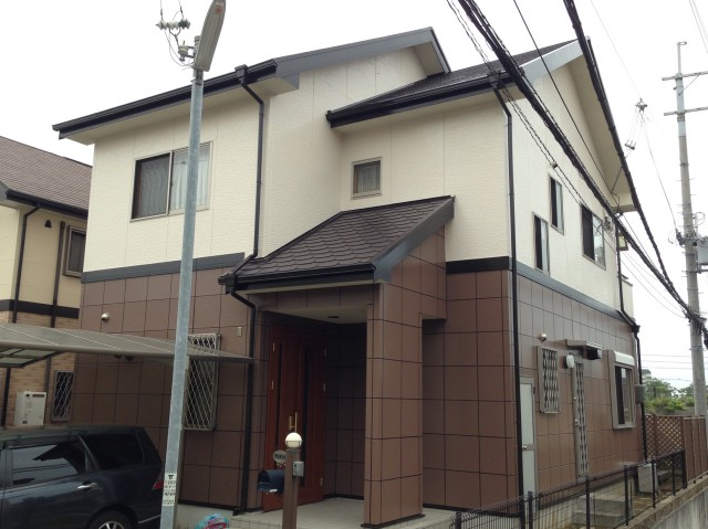 塗装のタイル模様が美しい兵庫県神戸市のW様邸