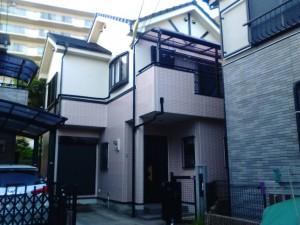 神戸市須磨区I様邸の外壁塗装・屋根塗装の施工後