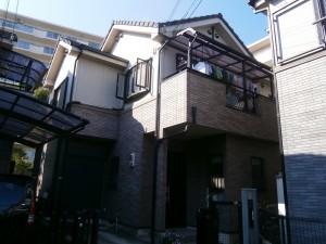 神戸市須磨区I様邸の外壁塗装・屋根塗装の施工前