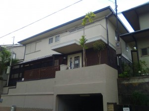 兵庫県神戸市北区T様邸の外壁塗装・屋根塗装・ベランダ防水