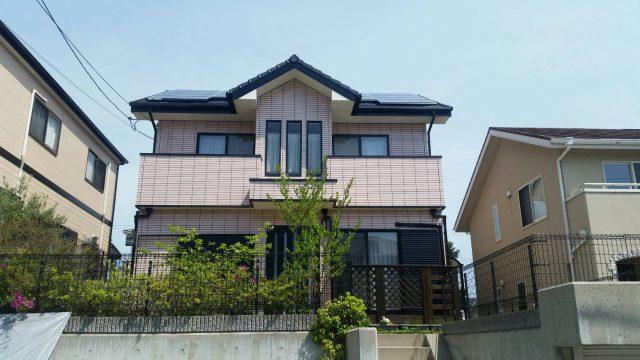 兵庫県神戸市北区のH様邸の外壁塗装工事