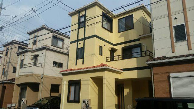 兵庫県宝塚市のM様邸の外壁・屋根塗装のリフォーム工事