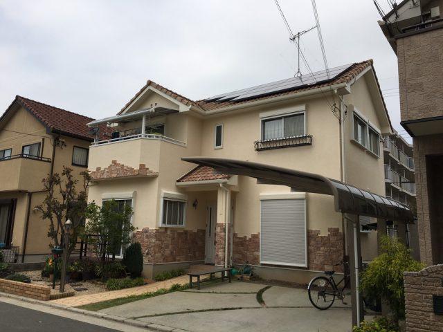 兵庫県明石市のT様邸の外壁・屋根塗装のリフォーム工事