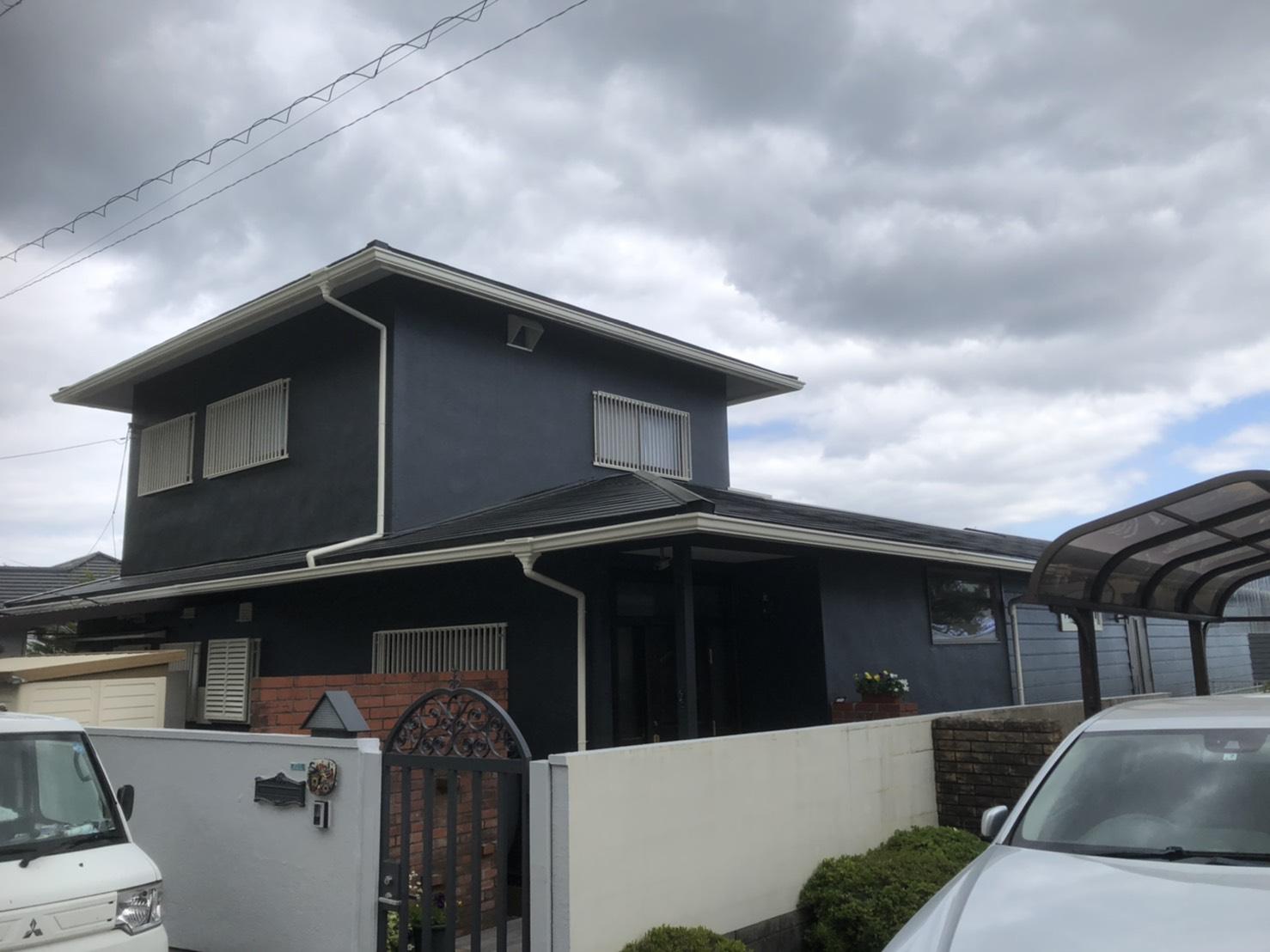 外壁・屋根塗装工 - 芦屋市 S様邸-施工後